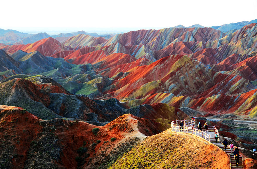 "Danxia landform area is known as ""the eye candy of Zhangye"