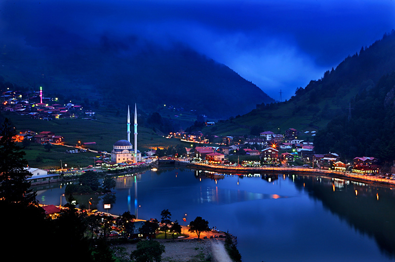 Uzungol village is famous for its beautiful lake