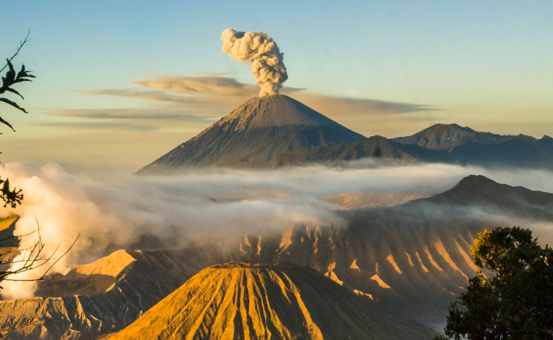One of the most famous volcanoes of Indonesia